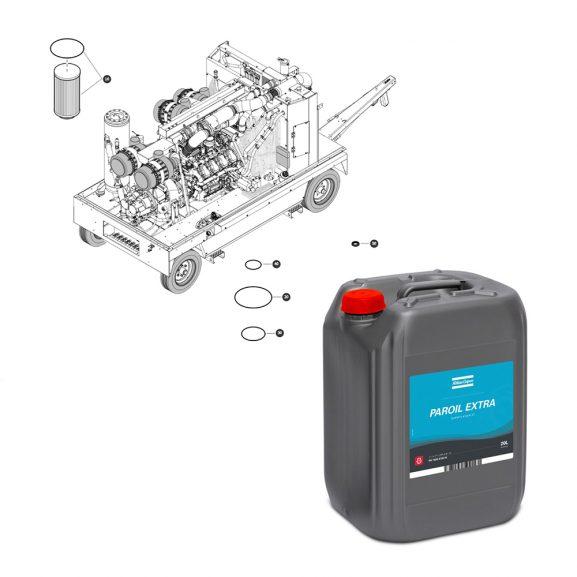 Service kit med atlas copco olja