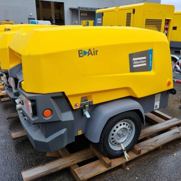 atlas copco h185 e air kompressor som går på el